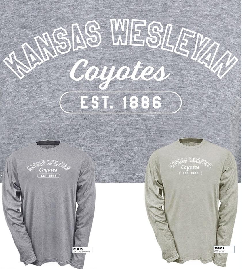 Kansas Wesleyan Coyotes Tri-Blend LS