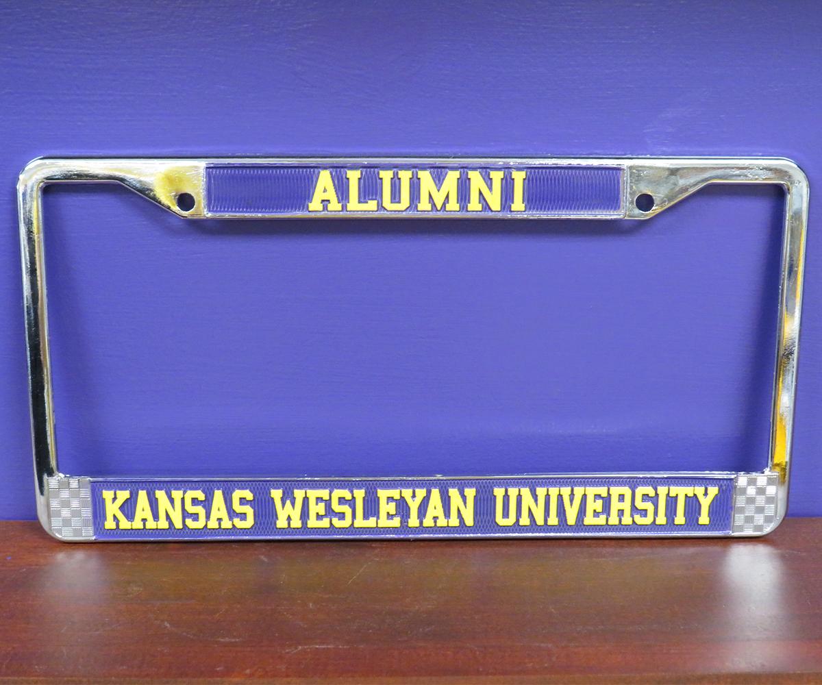 Kansas Wesleyan University License Plate Alumni