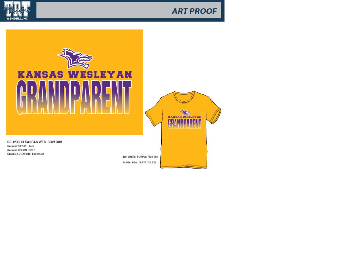 Kansas Wesleyan Grandparent T-Shirt