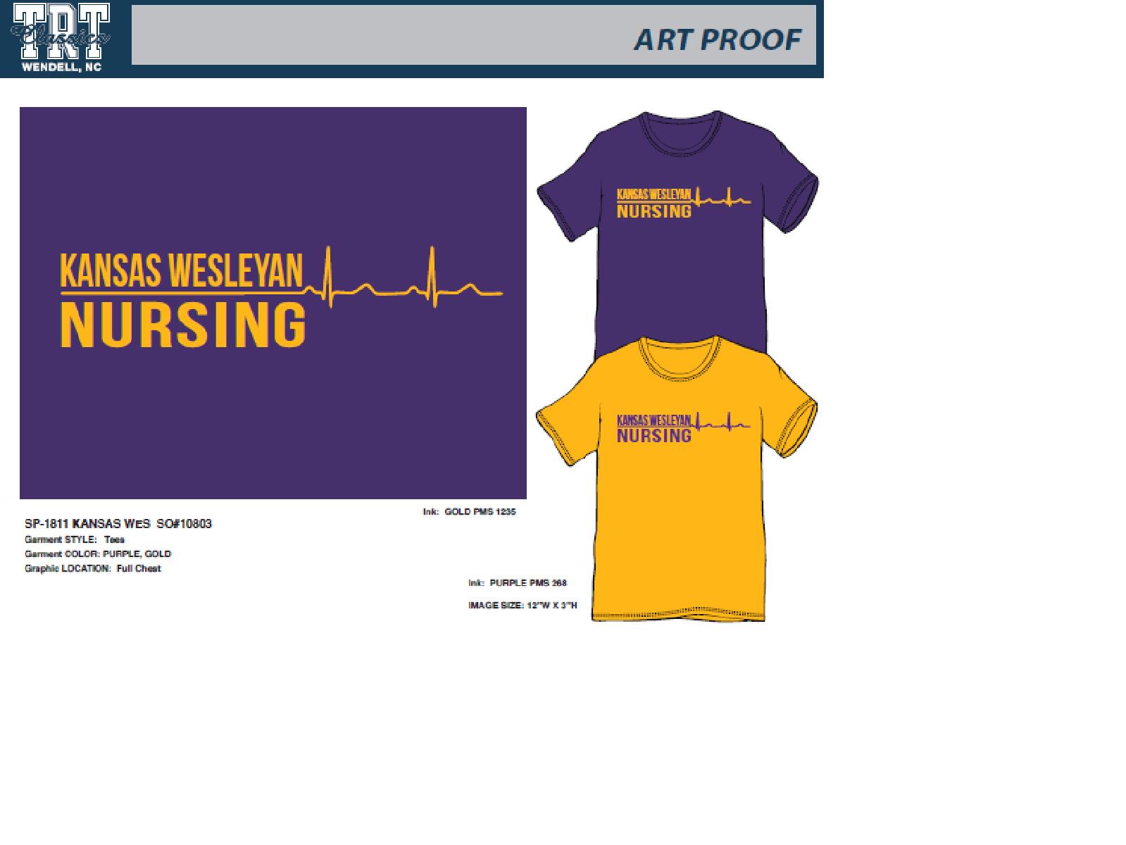 Kansas Wesleyan Nursing T-Shirt