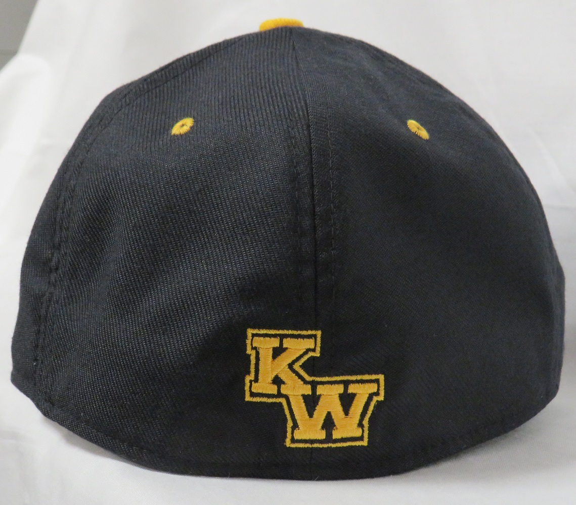 a large blue hat