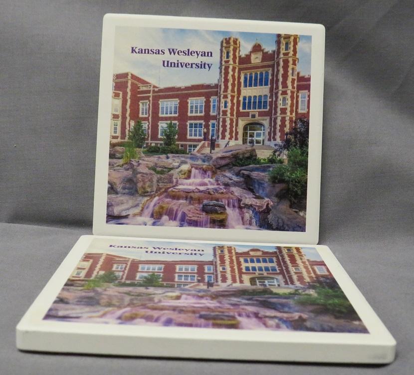 Kansas Wesleyan University Square Coaster