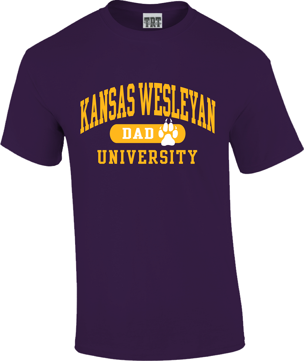 Kansas Wesleyan University Dad T-Shirt