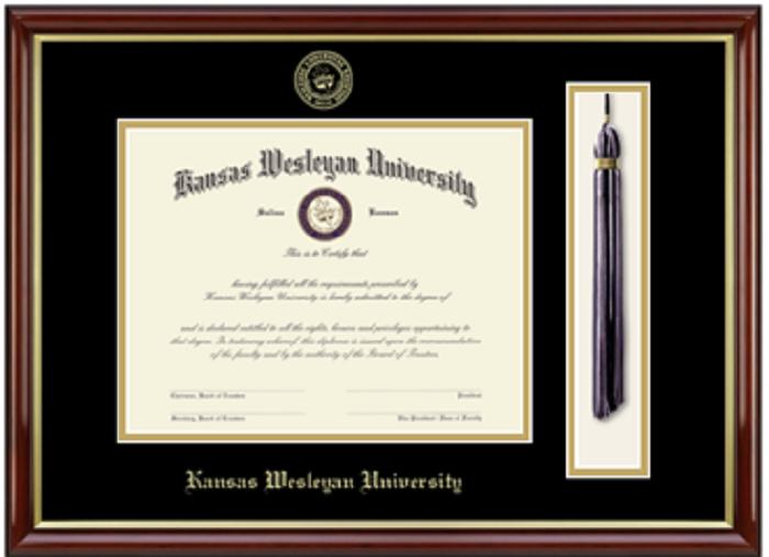 Kansas Wesleyan University Diploma Frames
