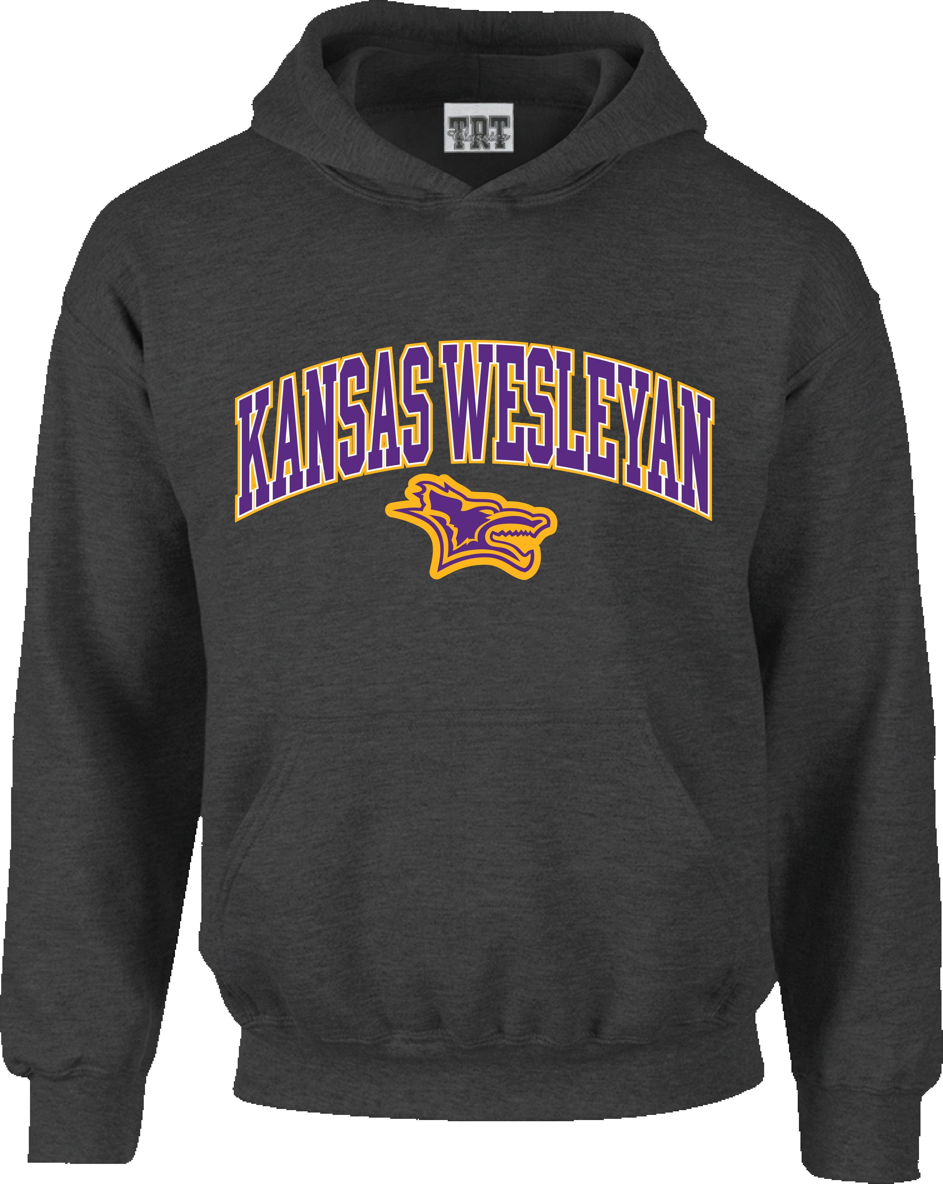 Kansas Wesleyan Dark Grey Hood